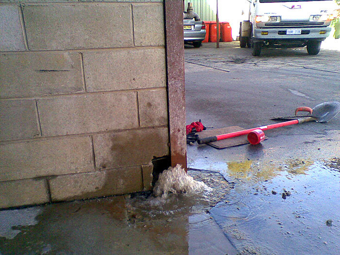 what to do about leaking pipes under slabs